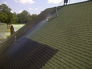 Shingle Roof Cleaning Crosby