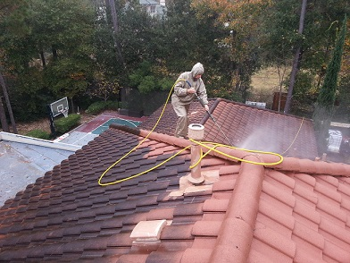 Tile ROof Cleaning Crosby